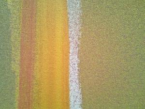 """Close-up of """"Pink Alert"""" by Jules Olitski, 1966"""